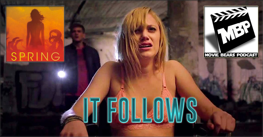 MBP e123 - 'It Follows' and 'Spring' (4/01/15)    DOUBLE FEATURE! This week the bears review two new horror flicks: 'It Follows' and 'Spring!' If you're on the fence, the guys given non-spoilery advice on seeing these films before diving into their super spoilery reviews. Click through to view!