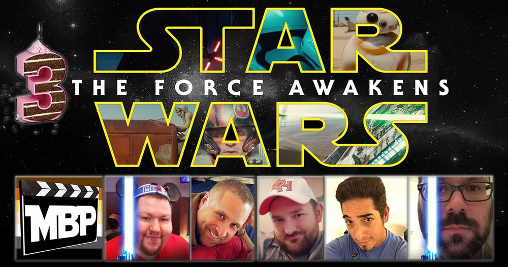 MBP e161 - Star Wars and 3 Year Anniversary Celebration (12/22/15)    On this week's episode, we celebrate 3 years of the Movie Bears Podcast with a review of 'Star Wars: The Force Awakens' with special guests Mike Lovins and Felipe Garcia. Click through to view!