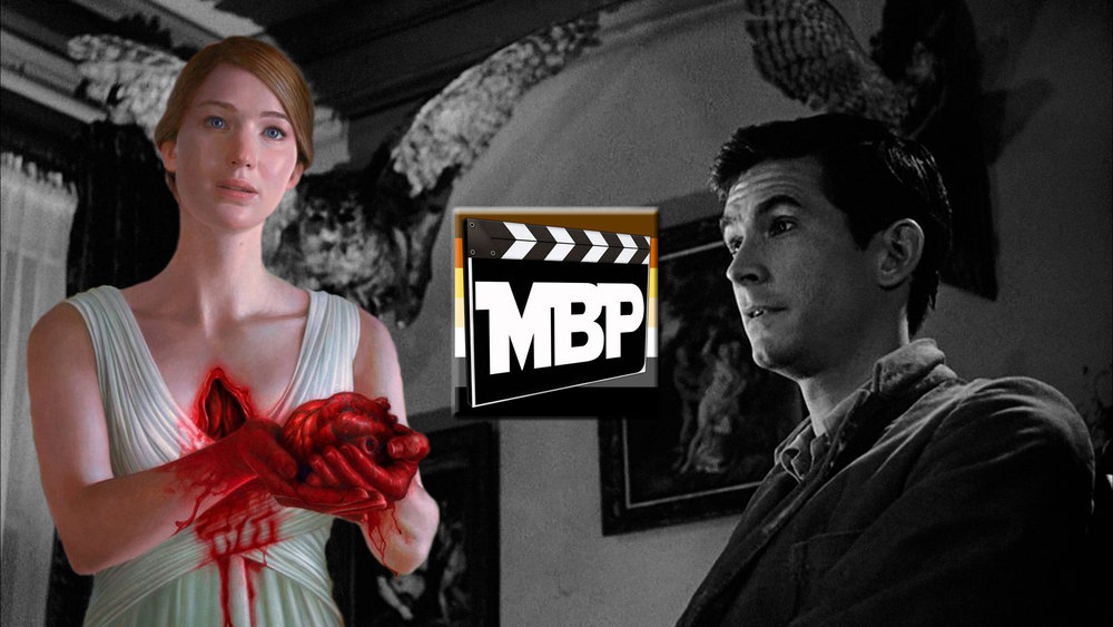 MBP e252 - 'mother!' and 'Psycho' (9/22/17)    On this episode we're looking at maternal horror films old and new with special guest and beloved MBP alum Chris Lopez! First up, we look back at the influential Alfred Hitchcock slasher, 'Psycho.' Then, we turn our attention to the controversial new film 'mother!' by Darren Aronofsky. If you don't listen, you might disappoint mother… and you wouldn't want that now, would you??