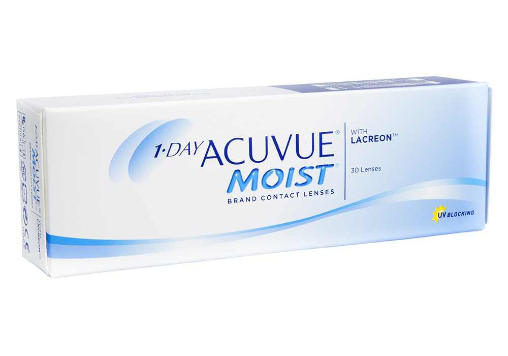 Johnson & Johnson 1 Day Acuvue Moist $30.50 per box