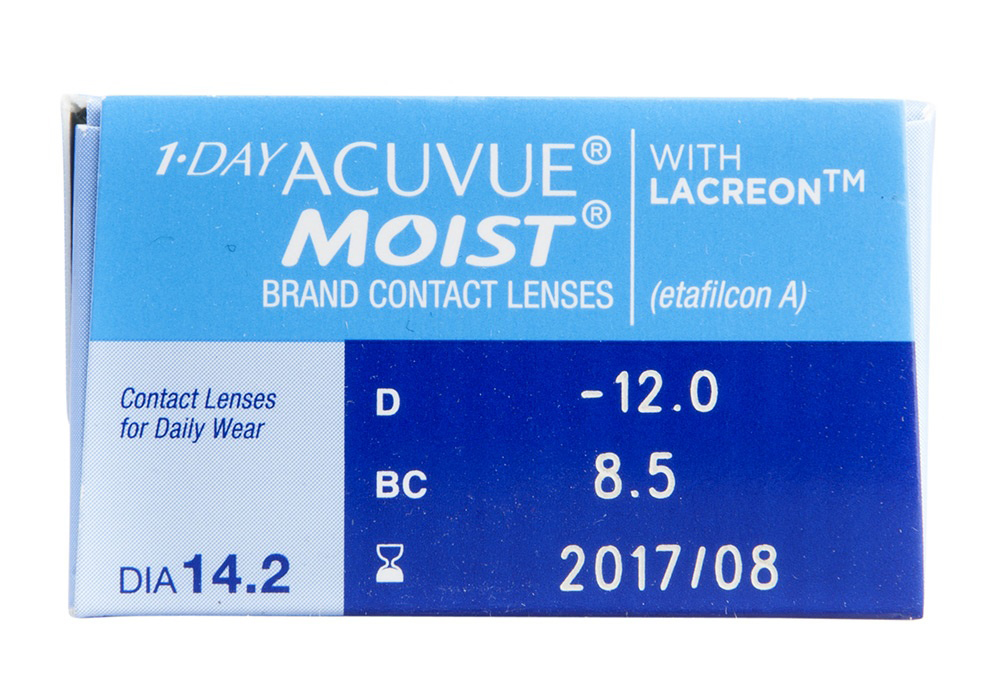 1 Day Acuvue Moist 30s Side