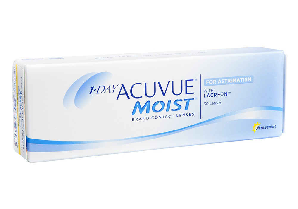 Johnson & Johnson 1 Day Acuvue Moist for Astigmatism   $36.00 per box