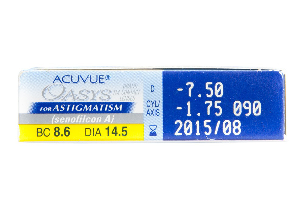 Acuvue Oasys for Astigmatism Side