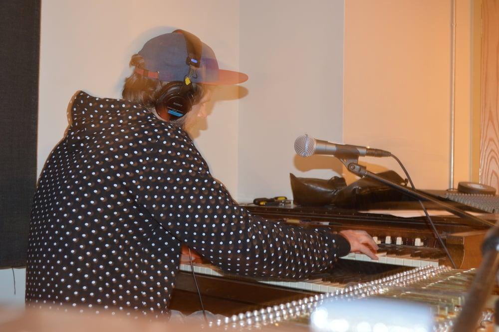 BodhiJai (Ben) laying organ for the next release.