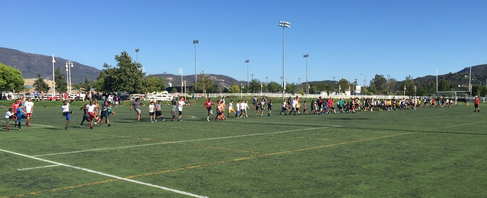 More than 100 youth athletes regularly attend TVPW early out conditioning clinics.