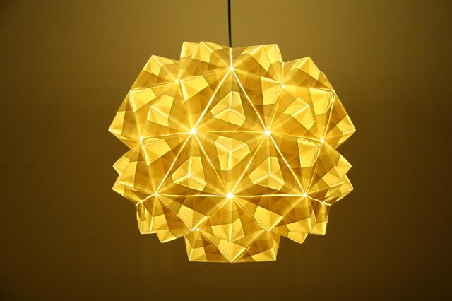 Origami Lampshade - Leah Pendant. £495