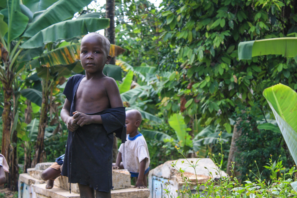 A village child in Bel-Air.