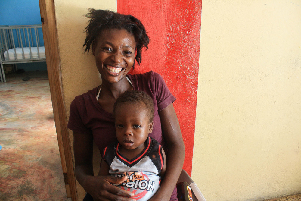 One of the mother's receiving education in our malnutrition program to learn how to properly care for her children.