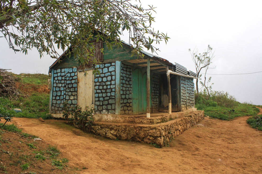 Not my home, but a quaint Haitian house found up in the mountains of Seguin, Southeast, Haiti.