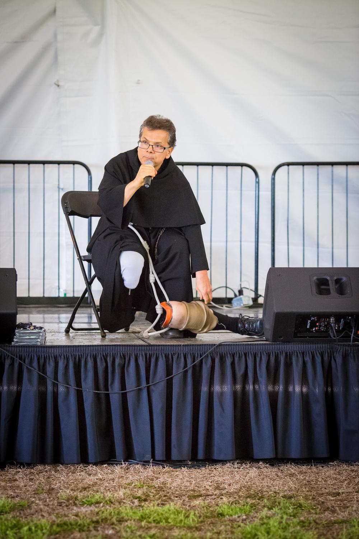 """Fr. Masseo Gonzales - """"El Padrecito"""" - performing his spoken word rap."""
