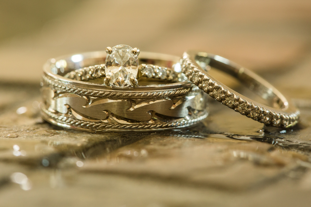The ring set from a recent wedding that I photographed.
