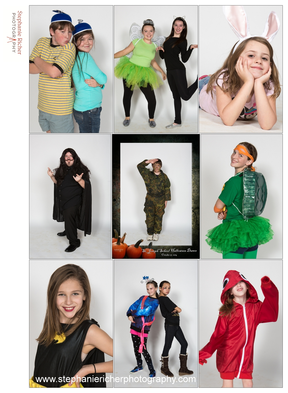 Last week my son's middle school had a Halloween dance.  Now, since I am a GREAT MOM (indeed!), I volunteered to do a photo booth for the evening.