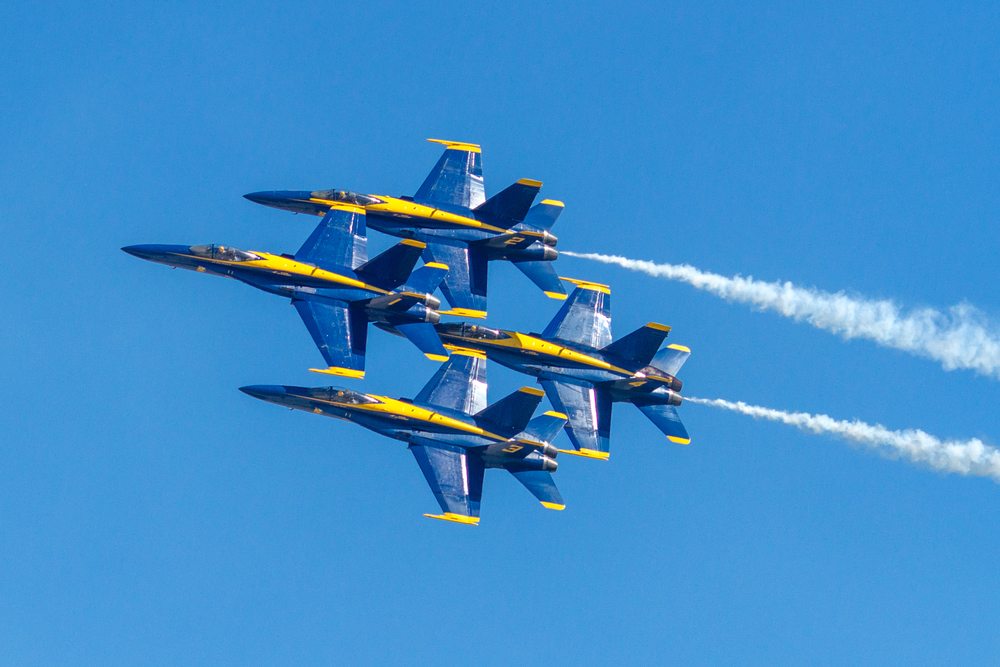 The big draw were the Blue Angels - they were fantastic!  They are the last act, coming on around 3:00 pm.