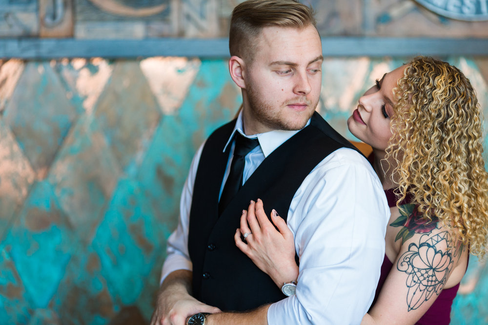 Engagement session in Ponce City Market in Atlanta, GA.
