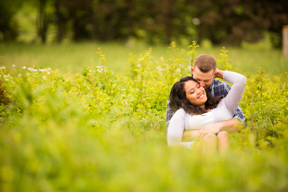 Engagement session at Knoxville Botanical Gardens