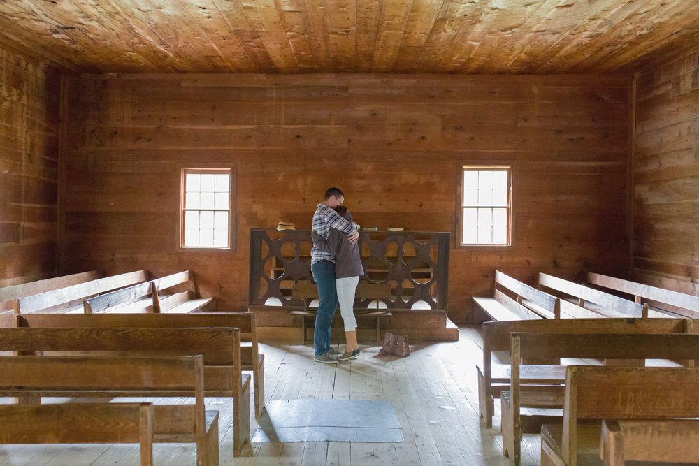 Proposal in the Primitive Baptist Church in Cades Cove.
