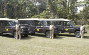 These are similar to the vehicles we will be using. There will be 3 participants in every 9-person 4x4 Extended Safari Land Cruiser, so each participant will have a complete row to themselves to be able to shoot out of each side of the vehicle at any time and have plenty of room for their equipment.