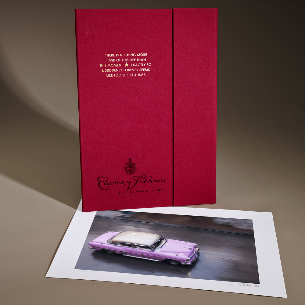 Fine Art print in red linen portfolio case: Retail price: $625.00 – your price: $275.00 per print.