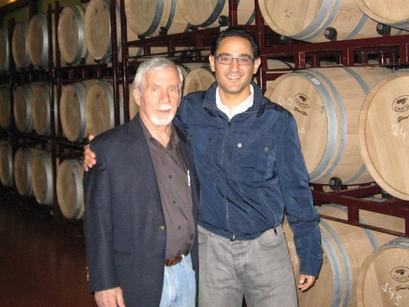 Howard Friedman of South River Imports visiting his friend, Antonio Bleda.