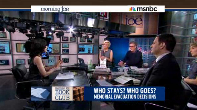 Discussing Five Days at Memorial on Morning Joe Book Club.