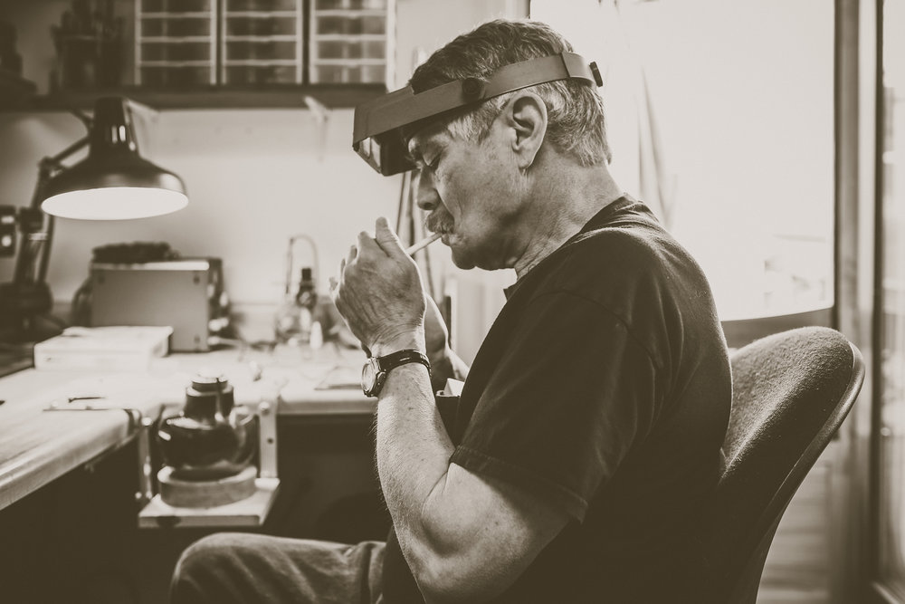 "I sit down with Jim in his studio space, ""the only place I'm allowed to smoke my cigarettes"" to watch his craft in the making."