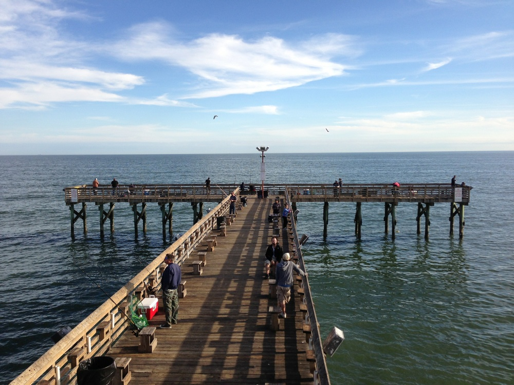 Main galveston 39 s 61st street fishing pier for Port lavaca fishing