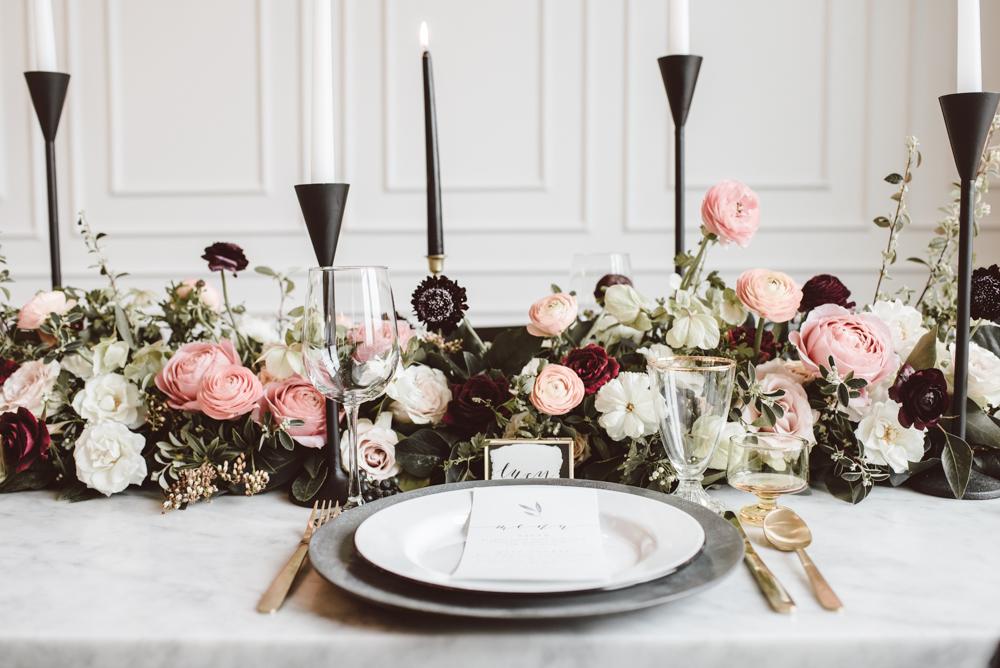 Pink + Black Elegance
