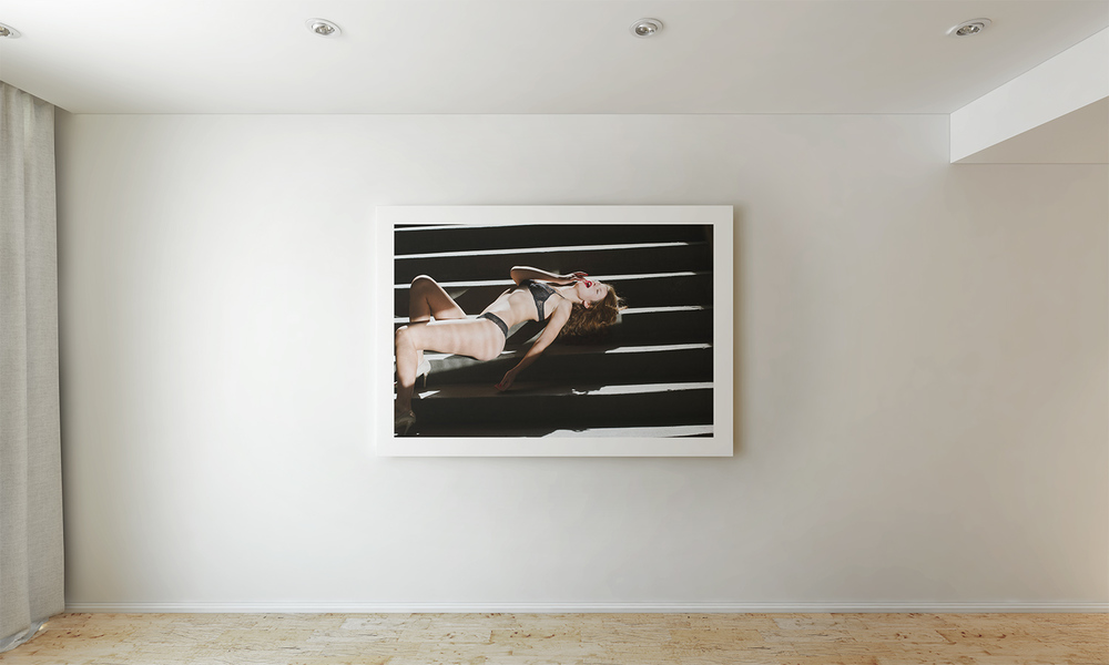 "A 40""x30"" print from one of my fashion editorials in client's Beverly Hills home."