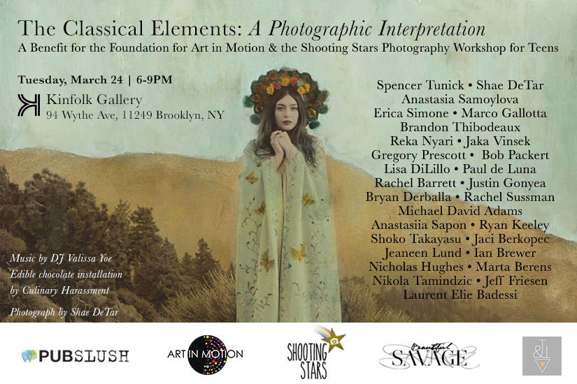 """The Classical Elements: A Photographic Interpretation"" invite"