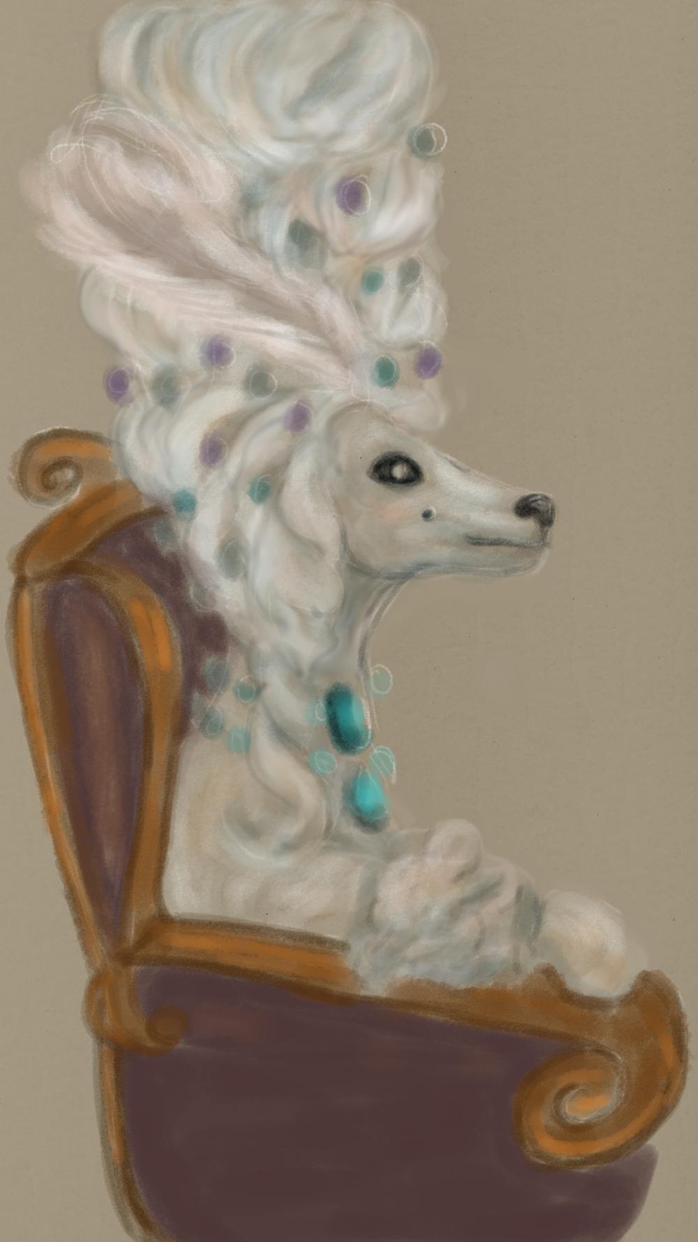 Illustration royal Poodle
