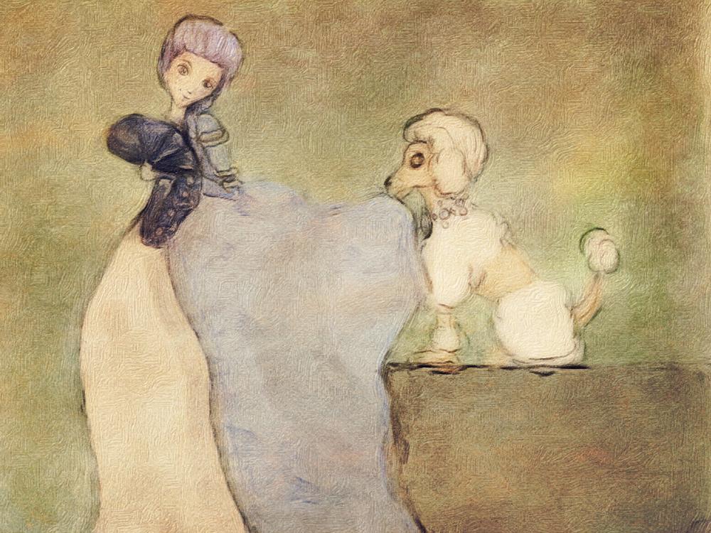 Pompadour and Poodle at Versailles
