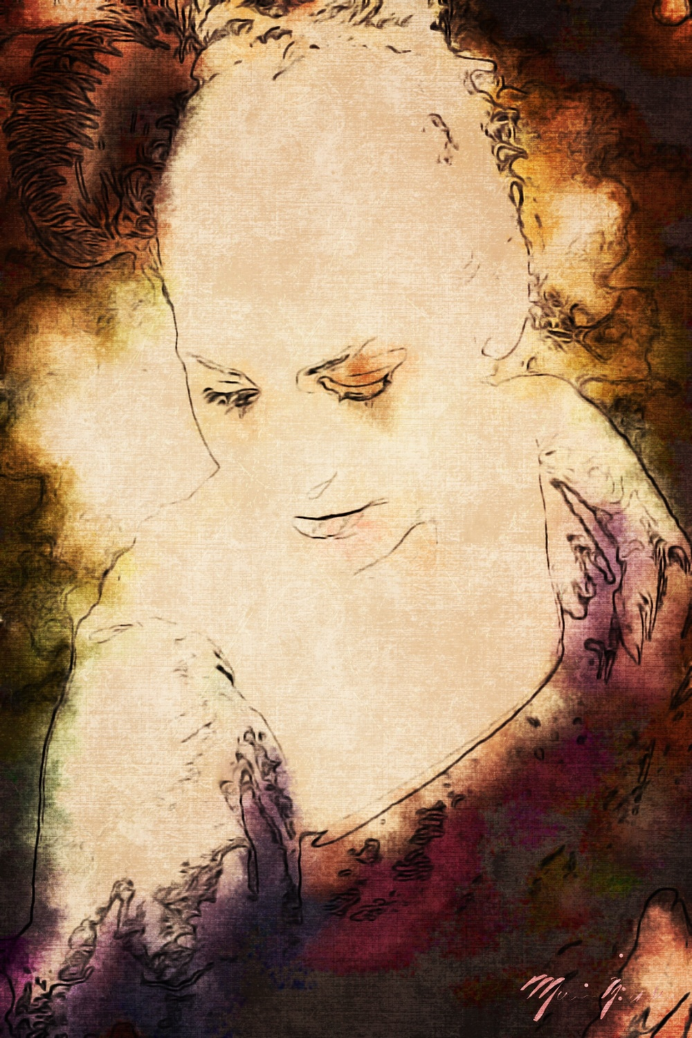 Marie Antoinette Illustration surreal