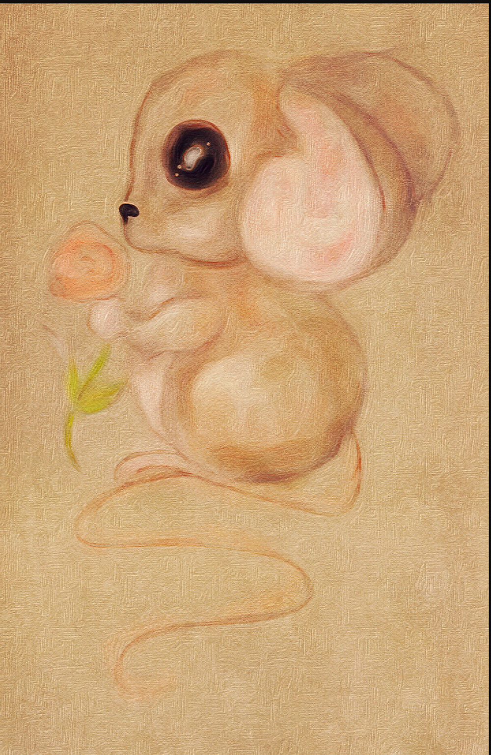 Mouse and Rose illustration