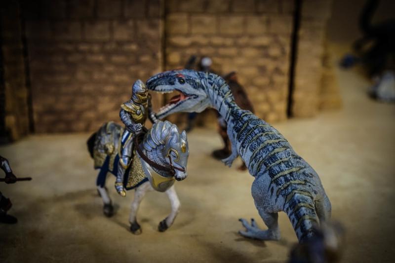Dinosaur vs Knight