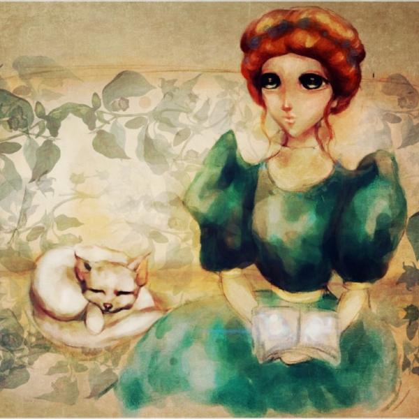 woman-cat-illustration