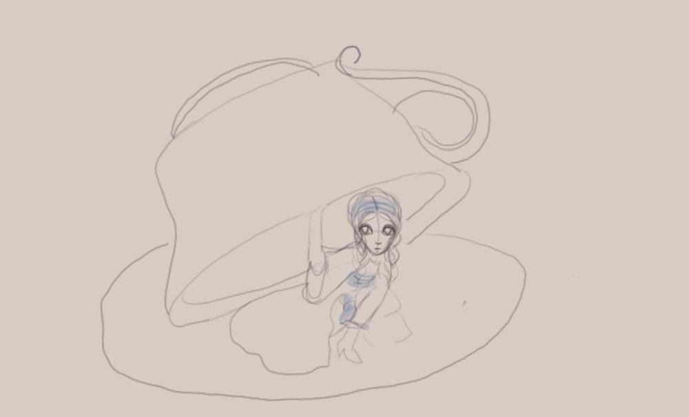 Alice in Wonderland sketch