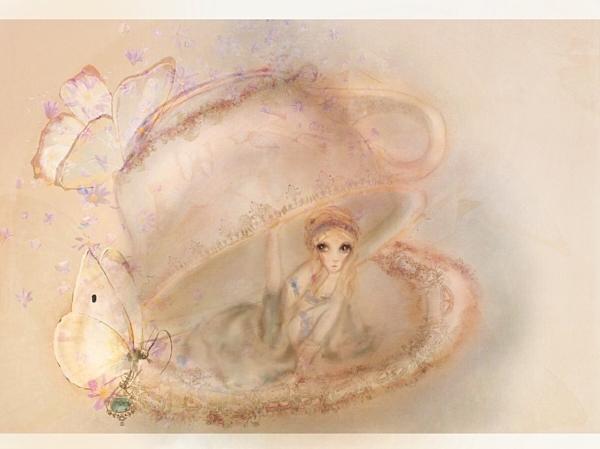 Alice in wonderland anime illustration