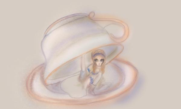 Alice in wonderland anime drawing