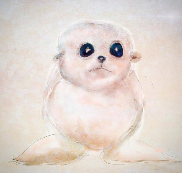 Cute Baby Seal Illustration