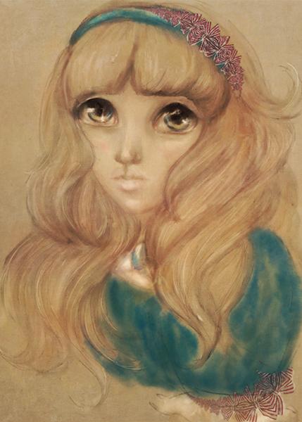 Anime Alice in Wonderland Illustration