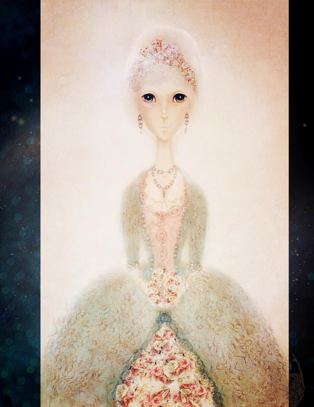 Anime Marie Antoinette illustration