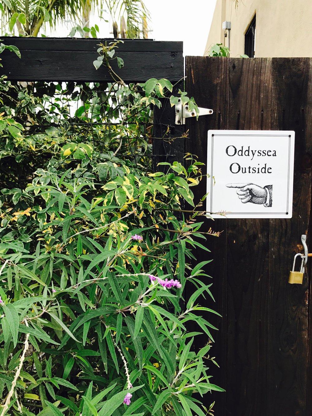 Outdoor play area Oddyssea best kids activities Half Moon Bay