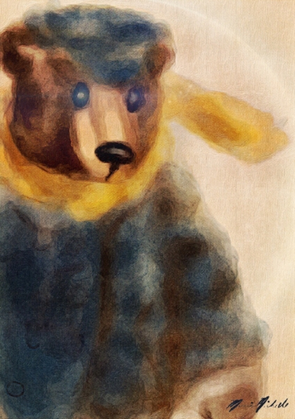 Another pinterest moment. I saw the cutest Paddington Bear doll and had to try painting it.