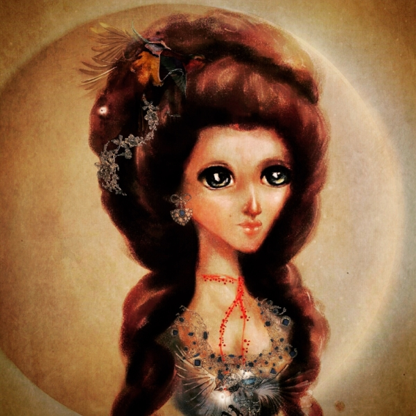 Fairies of Versailles fairy fashion illustration by picture book writer and illustrator Monica MIchelle