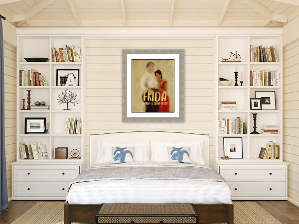 Shiplap bedroom rustic decor wall art
