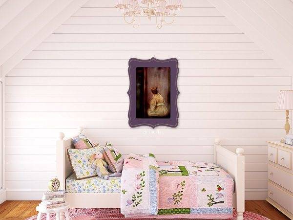 Girl's room wall art shiplap