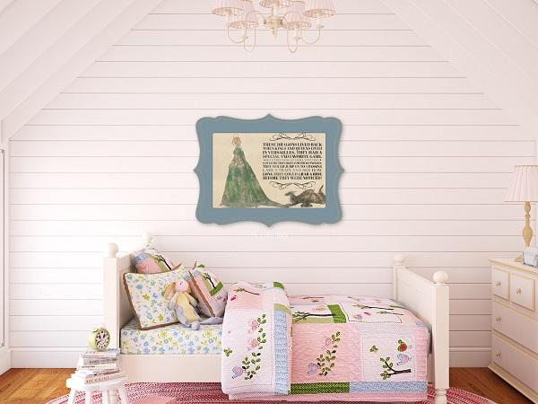 Girl's Bedroom Shiplap