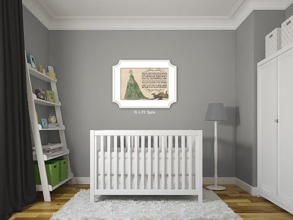 Gray Nursery wall art
