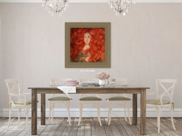Rustic dining room wall painting