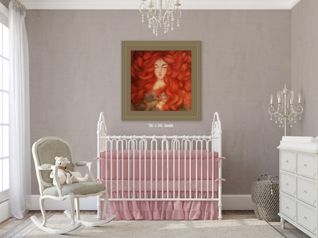 Darling nursery wall art for a baby girl